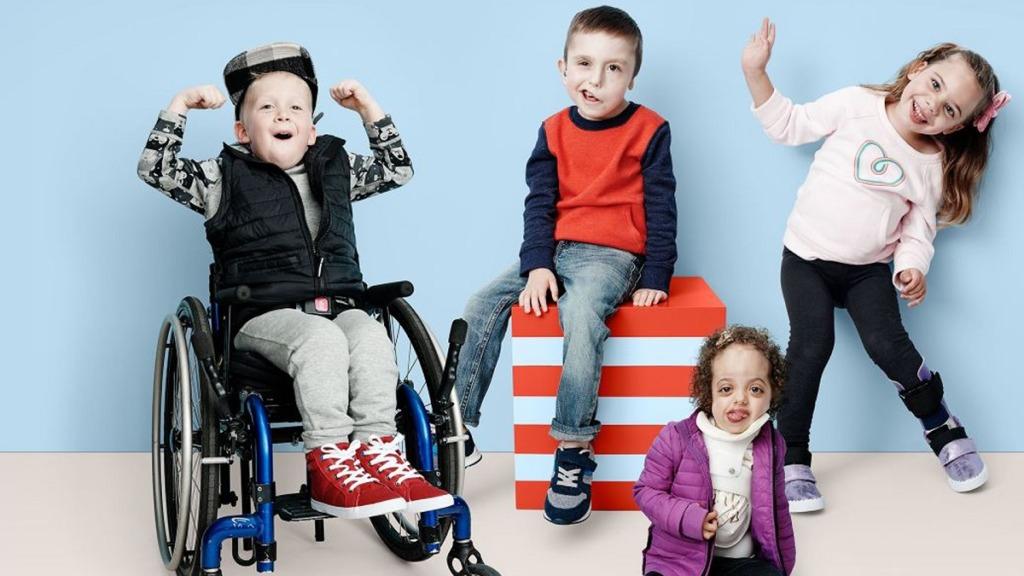 imagen de niños con discapacidad.