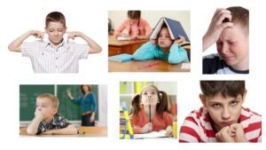 imagen de un collage de niños con trastorno de procesamiento auditivo.