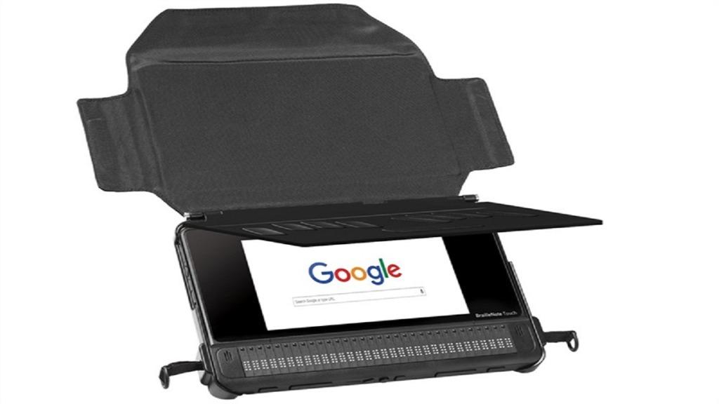 tableta braillenote touch plus con su funda