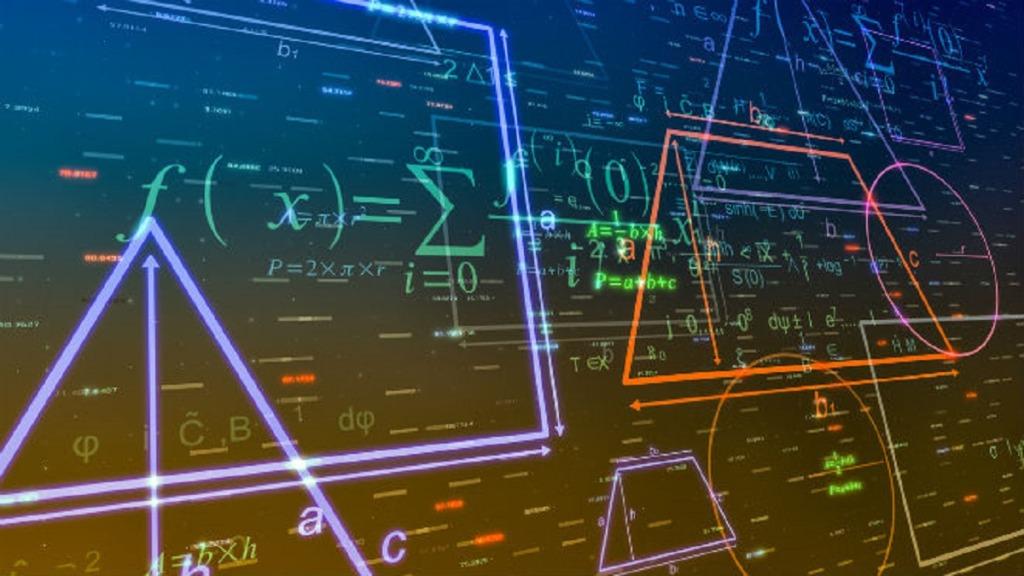 aula digital: imagen de una pizarra digital interactiva con una aplicación matemática abierta para implementar un aula sin papel