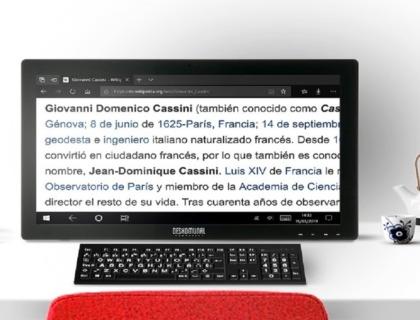 imagen de un ordenador para baja visión de la empresa deskomunal
