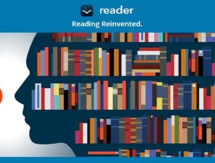 aplicación voice dream reader: imagen de una estantería llena de libros
