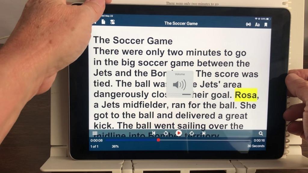 aplicación voice dream scanner: imagen de capturas de pantalla del uso de la aplicación