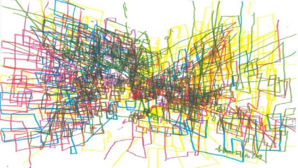 pintores ciegos: imagen de una obra del pintor arthur ellis