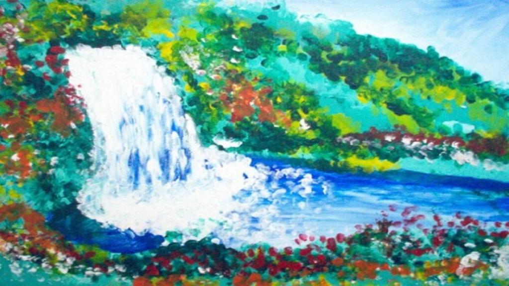pintores ciegos: imagen de una obra del pintor esref armagan
