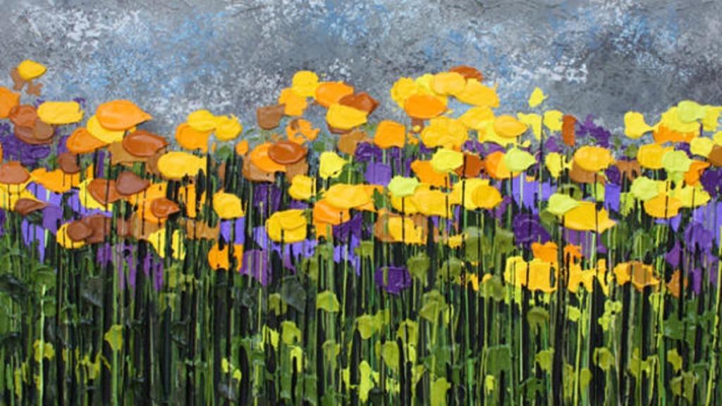 pintores ciegos: imagen de la obra del pintor jeff hanson una tarde en la provenza