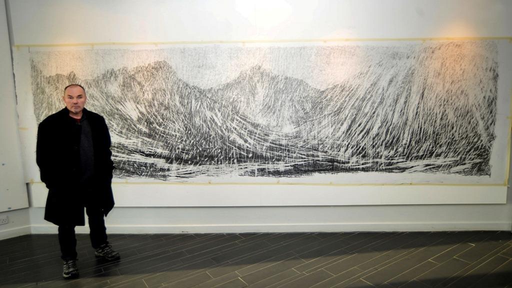 pintores ciegos: imagen del pintor keith salmon