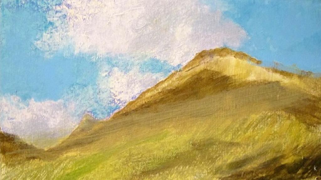 pintores ciegos: imagen de la obra del pintor keith salmon beinn odhair from the west highland way