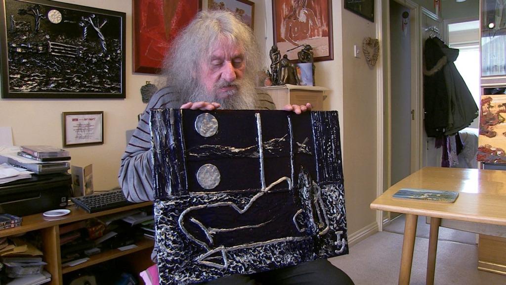 pintores ciegos: imagen del pintor terry hopewood