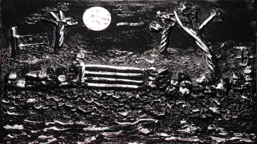 pintores ciegos: imagen de la obra del pintor terry hopewood Melodía Lunar