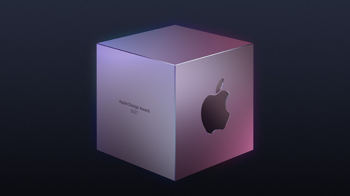 apple design awards: imagen de un cubo con el logotipo de apple