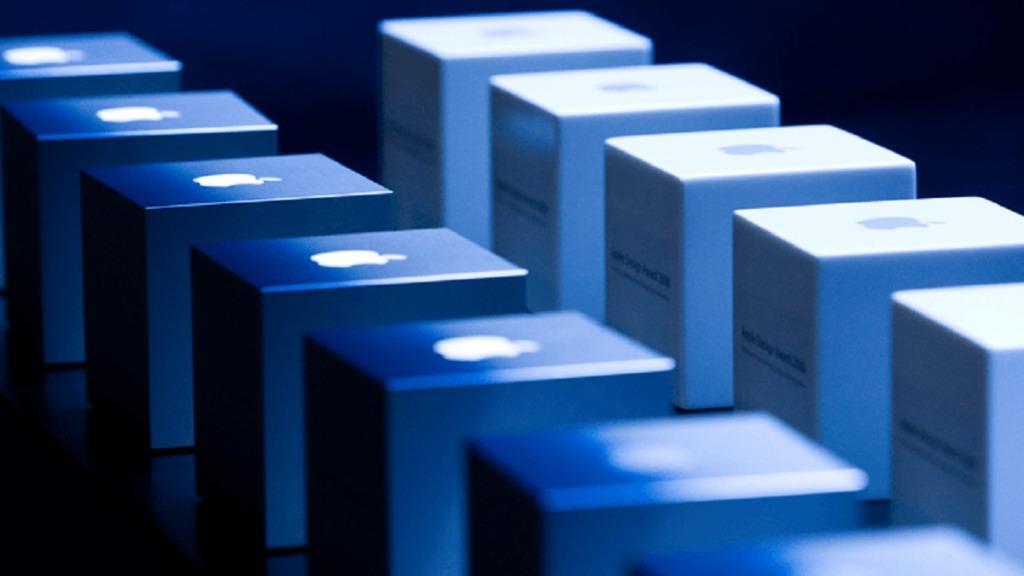 apple design awards: imagen de cubos con el logotipo de apple