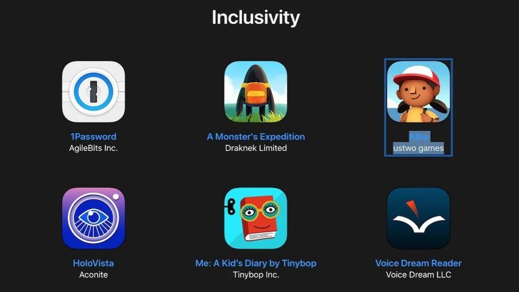 apple design awards: imagen de las apps finalistas