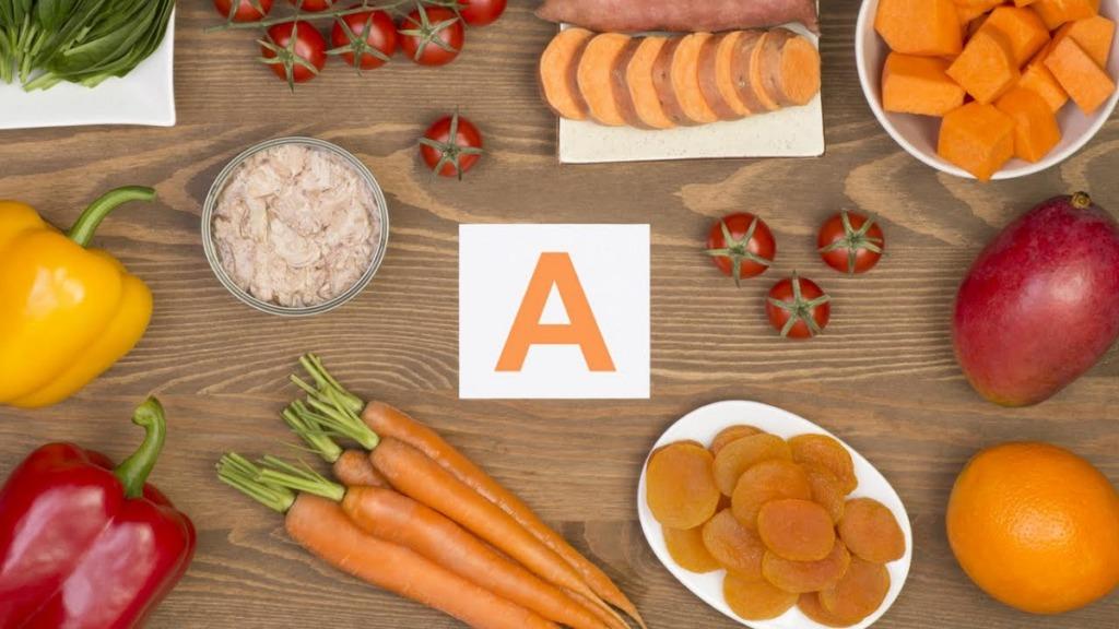 mejorar la vista: imagen de alimentos ricos en vitamina A