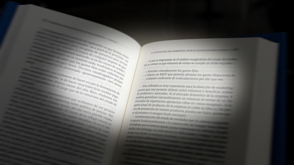 imagen de la vista de las páginas de un libro que tiene una persona con pérdida de visión periférica