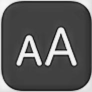 accesibilidad apple: imagen del logo de text size