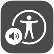accesibilidad apple: imagen del logo de voiceover