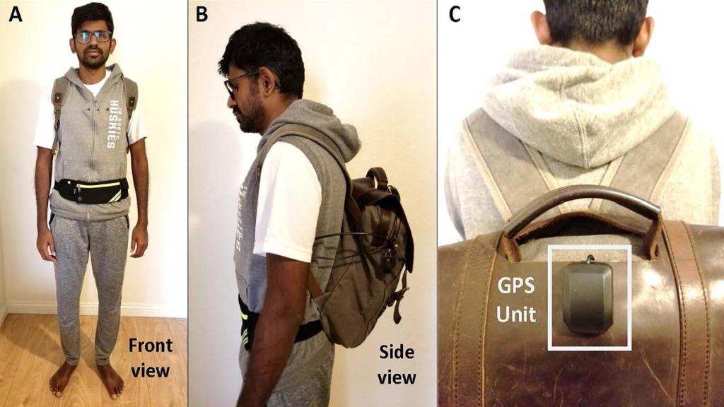 imagen de mochila dotada con IA