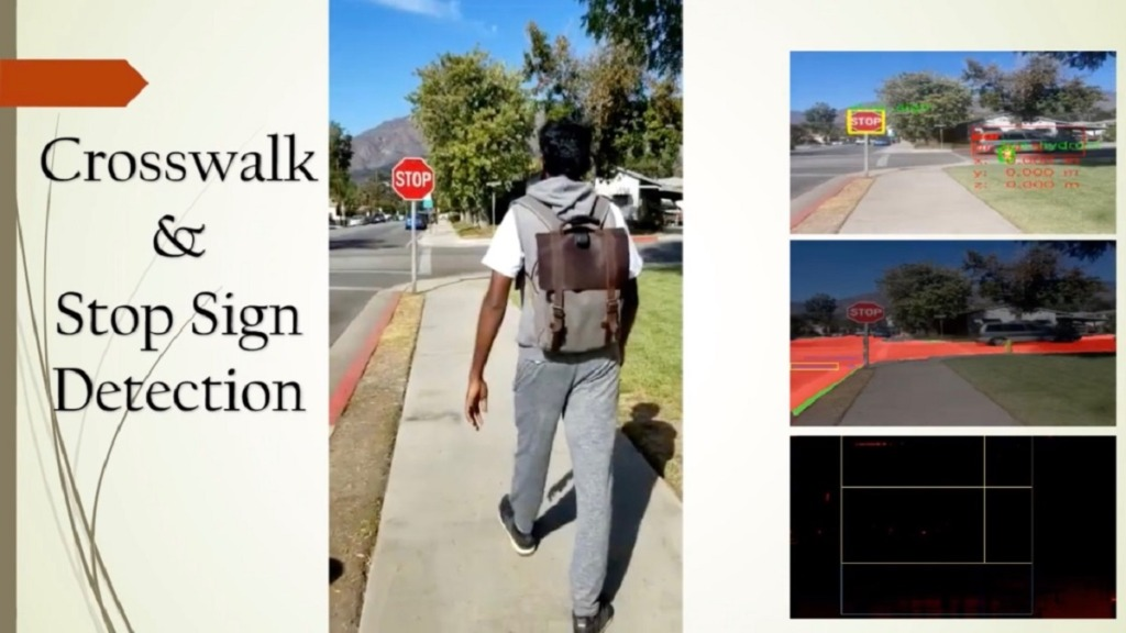 imagen de mochila dotada con AI