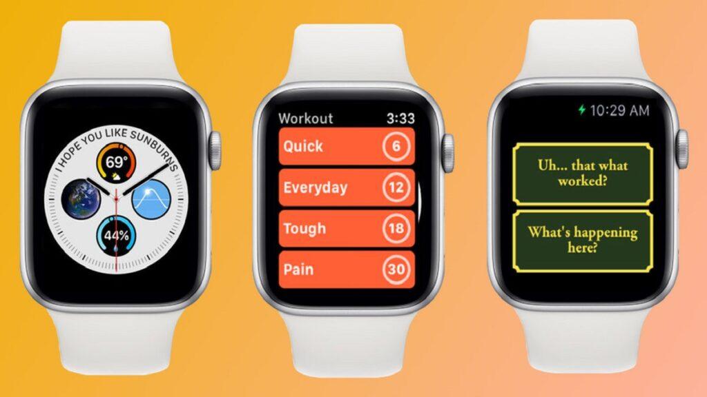 apple watch: imagen de algunas aplicaciones del reloj