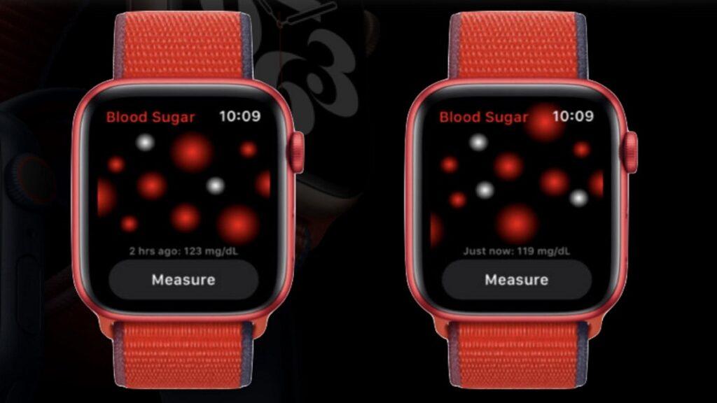 apple watch: imagen de la aplicación para medir el nivel de glucosa en sangre