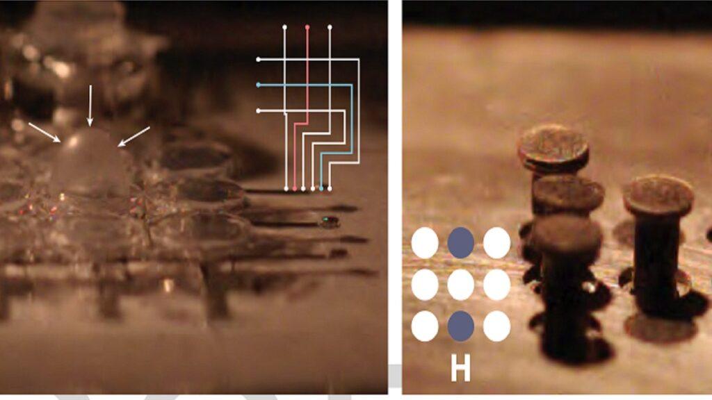 pantalla braille interactiva: imagen de cómo funciona el nuevo hardware a base de combustión