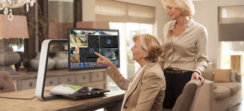 clearview: imagen de una persona utilizando el dispositivo