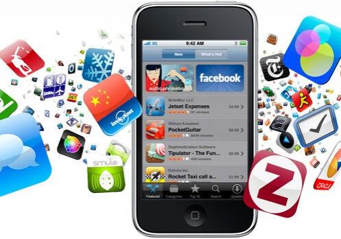 imagen de aplicaciones accesibles en un móvil.