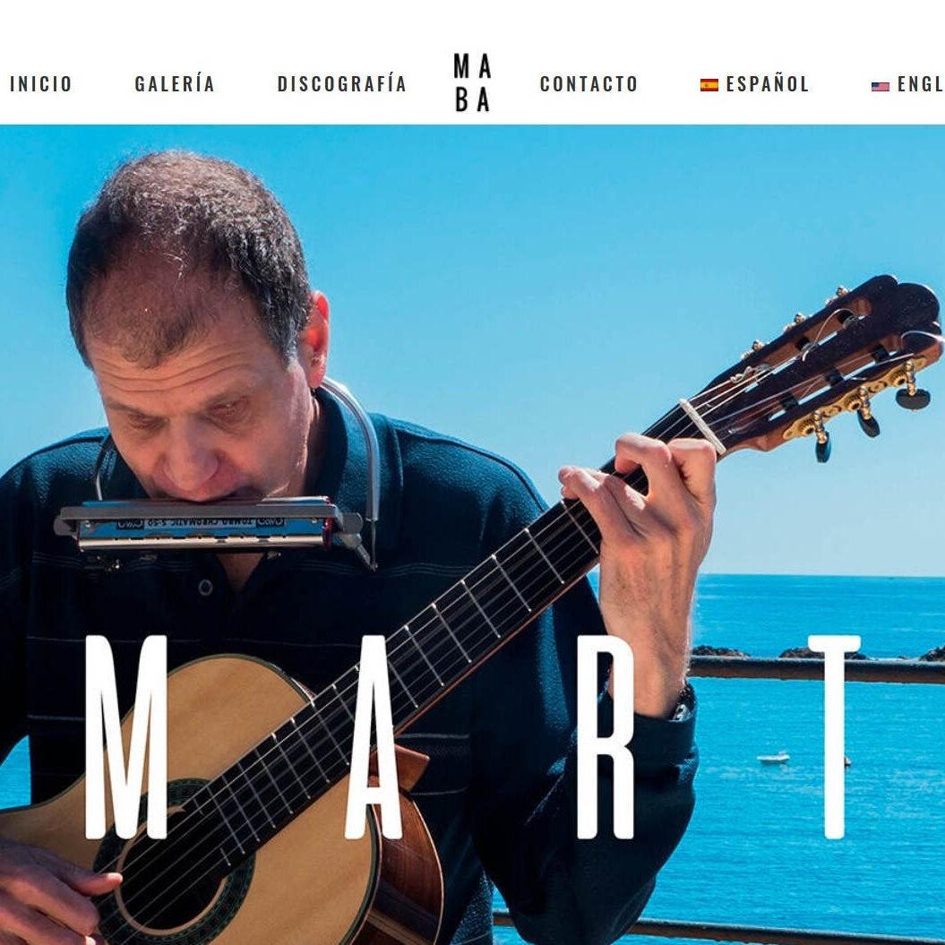 imagen de la página web de Martí Batalla realizada por Daniela Pérez y Ángel Jiménez.
