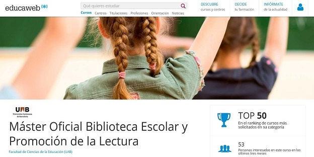 Máster Oficial Biblioteca Escolar.