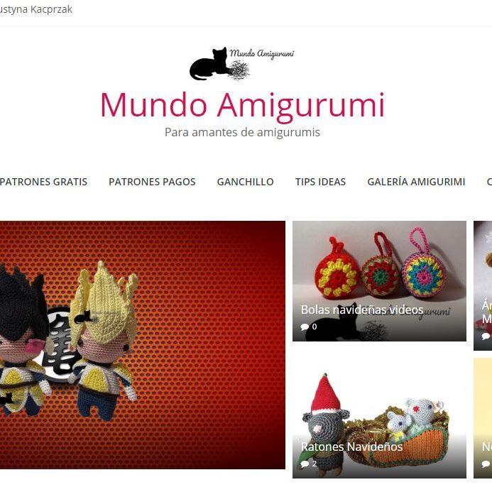 imagen de la página de inicio de Mundo Amigurumi.